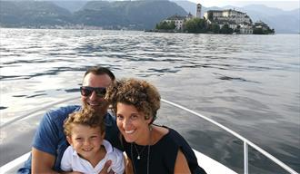 Lago d'Orta - Happy Family day in barca